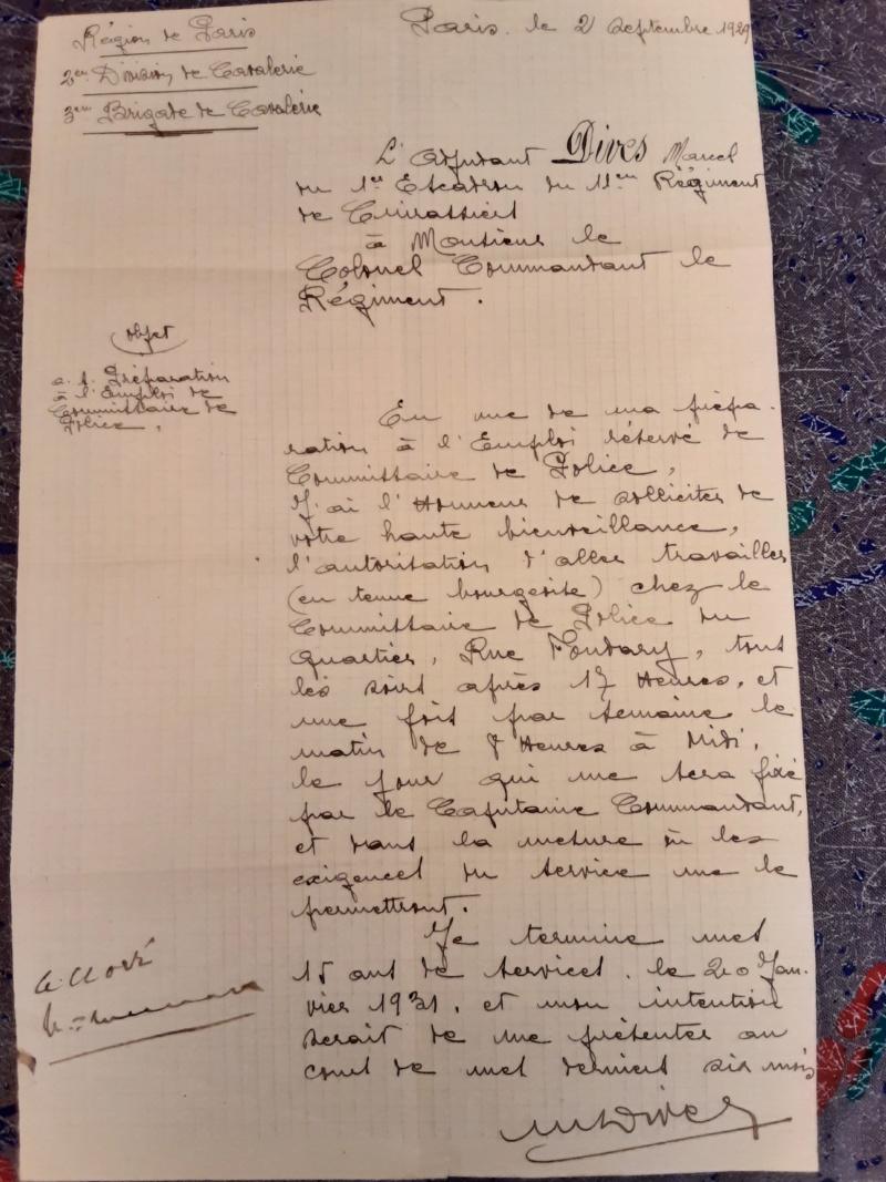 documents Commissaire de Police 1929 - 1939 fascicule de mobilisation Pas de  Calais 1940 - PHILPENS - JUILLET 5 et fin pour le mois 20190745