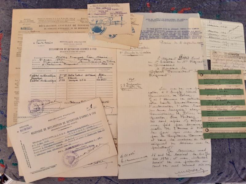documents Commissaire de Police 1929 - 1939 fascicule de mobilisation Pas de  Calais 1940 - PHILPENS - JUILLET 5 et fin pour le mois 20190746