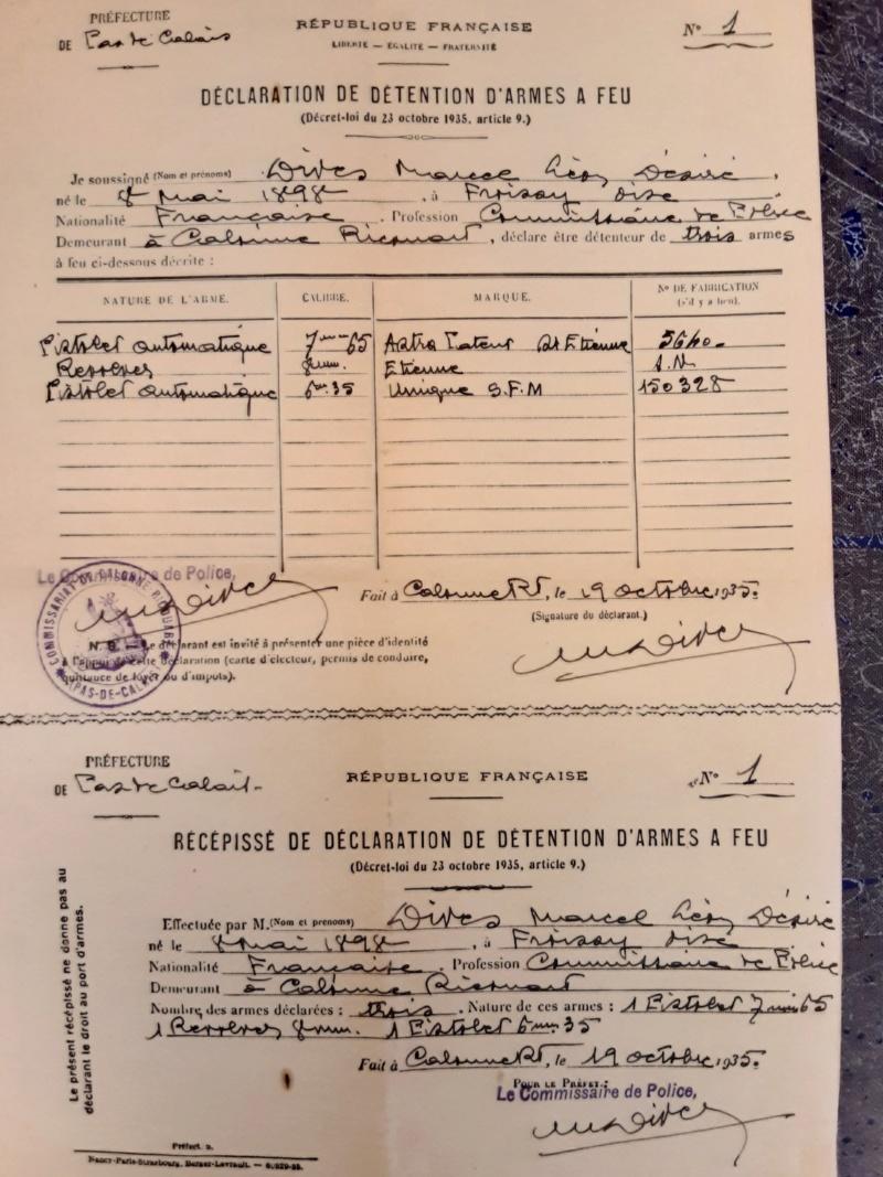 documents Commissaire de Police 1929 - 1939 fascicule de mobilisation Pas de  Calais 1940 - PHILPENS - JUILLET 5 et fin pour le mois 20190751