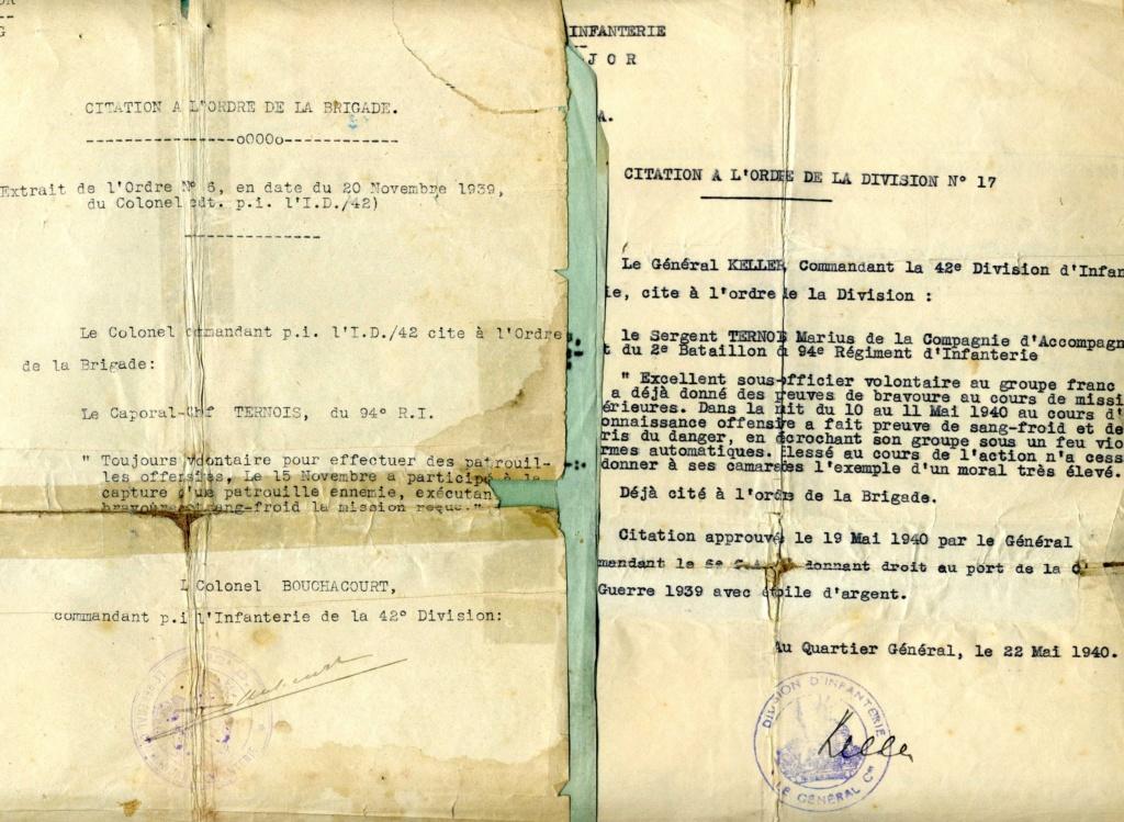 citations individuelles 94ème RI 1939 1940 groupe franc Img91310