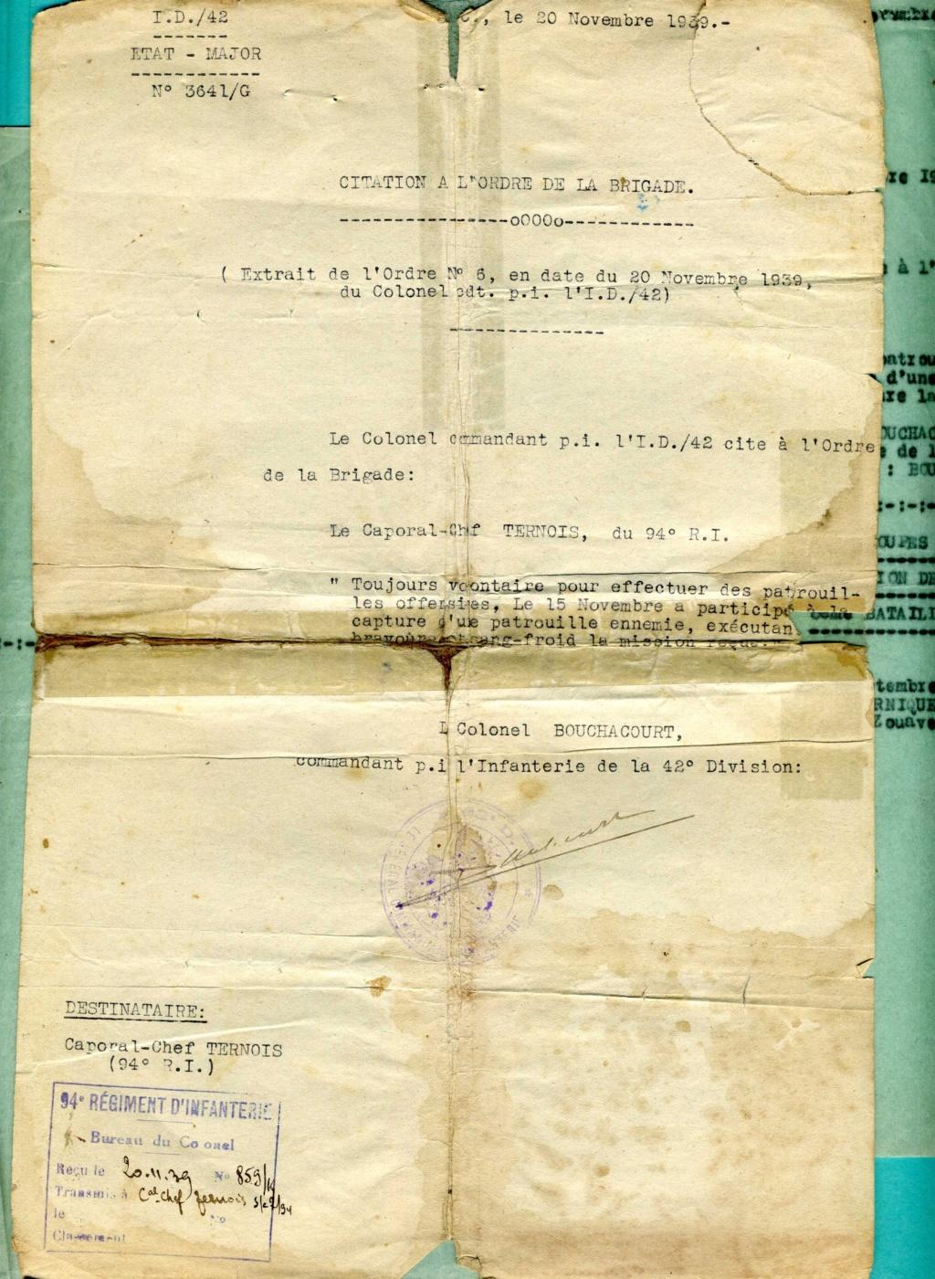 citations individuelles 94ème RI 1939 1940 groupe franc Img91410