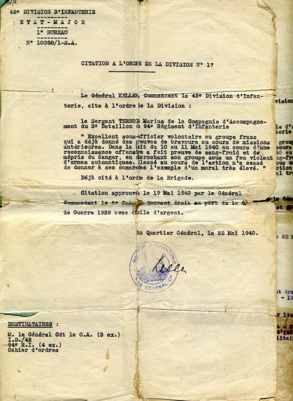 citations individuelles 94ème RI 1939 1940 groupe franc Img91510