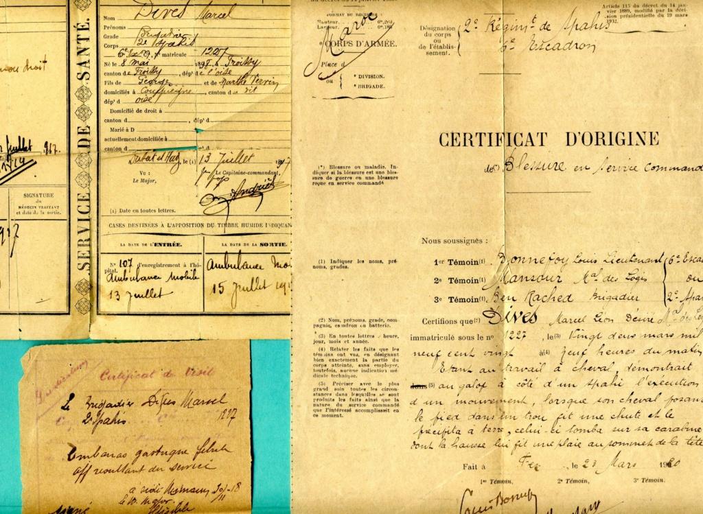 lot papiers sous-off cavalerie 1917-1928 spahi cuirassier chasseur  Img92110