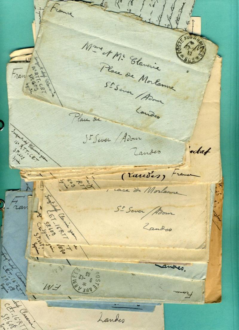 correspondance d'un sous-officier du 16è Régiment de Tirailleurs Tunisiens - Levant années 1930 Img92711