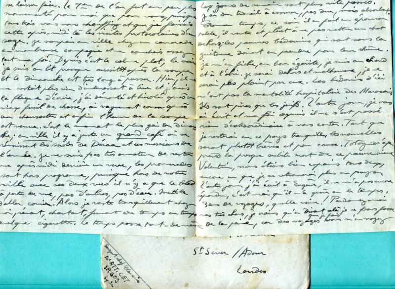 correspondance d'un sous-officier du 16è Régiment de Tirailleurs Tunisiens - Levant années 1930 Img92811