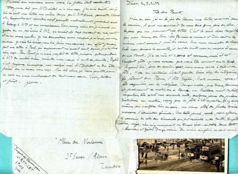 correspondance d'un sous-officier du 16è Régiment de Tirailleurs Tunisiens - Levant années 1930 Img92910