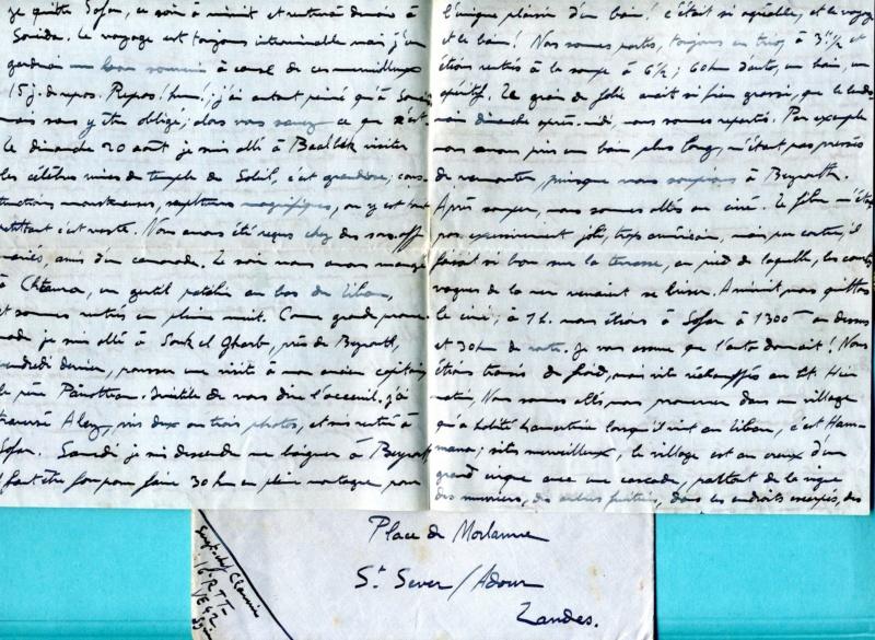 correspondance d'un sous-officier du 16è Régiment de Tirailleurs Tunisiens - Levant années 1930 Img93310