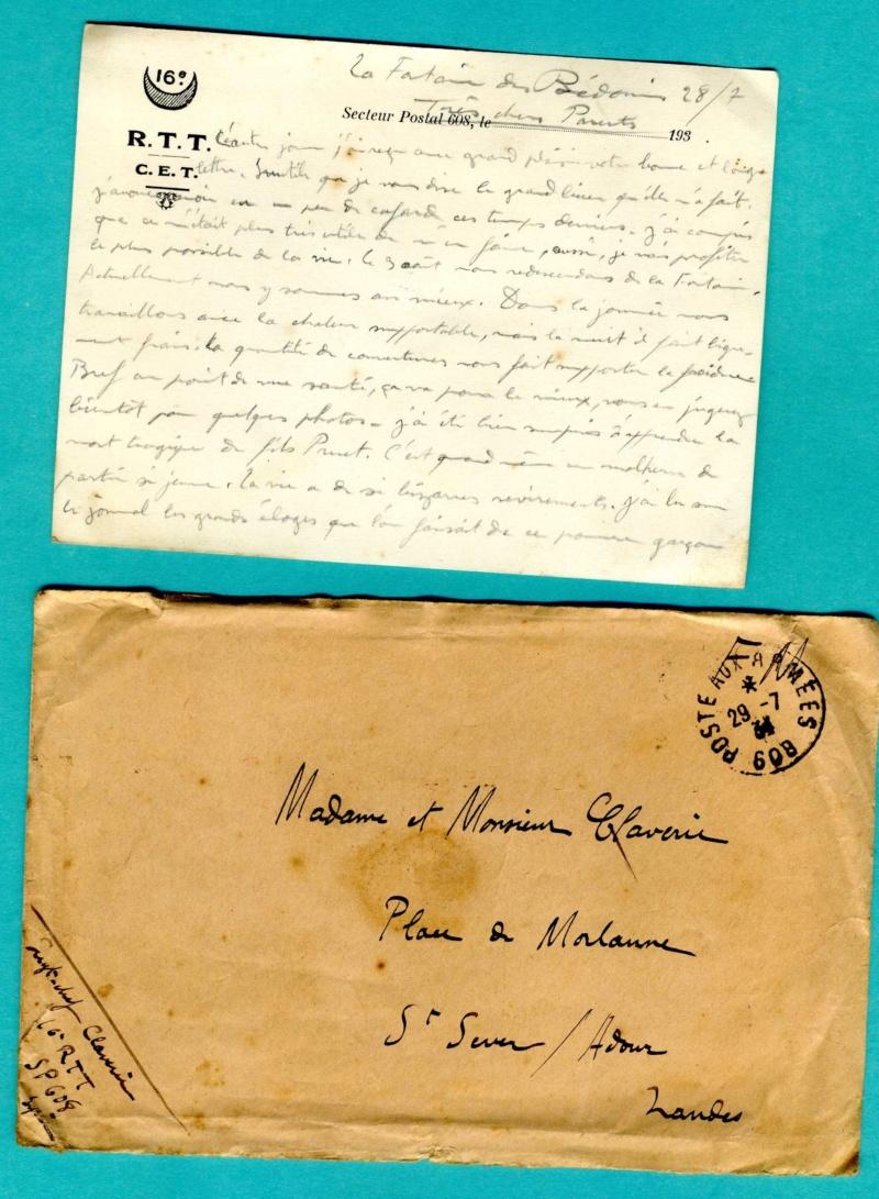 correspondance d'un sous-officier du 16è Régiment de Tirailleurs Tunisiens - Levant années 1930 Img93510