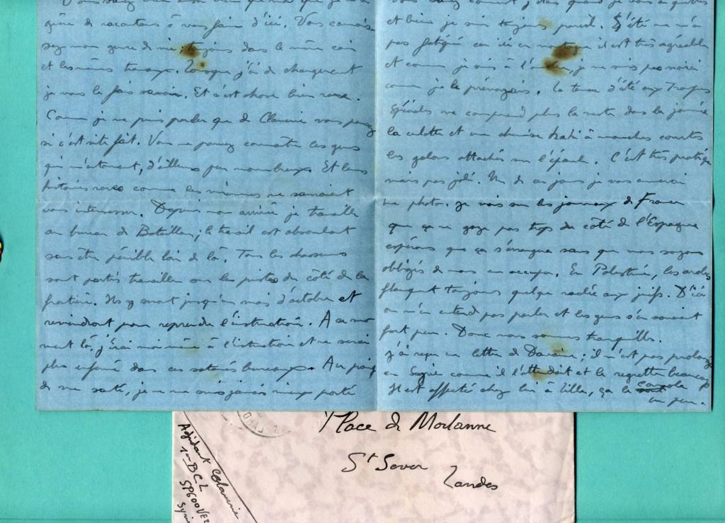 correspondance d'un adjudant du 1er Bataillon de Chasseurs Libanais - Levant années 1930 Img93910