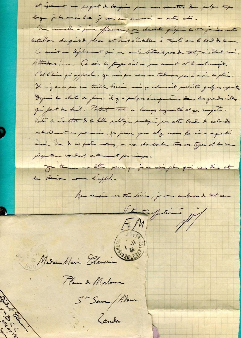 correspondance d'un adjudant du 1er Bataillon de Chasseurs Libanais - Levant années 1930 Img94010