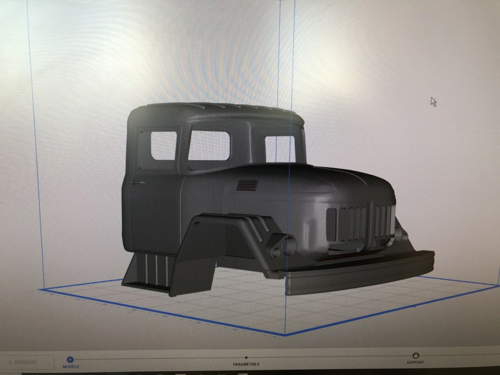 Camion Zil 131 6x6 impression 3D Img_5911