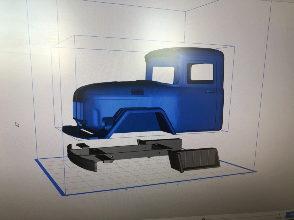Camion Zil 131 6x6 impression 3D avec balancier totalement fait maison Img_5913