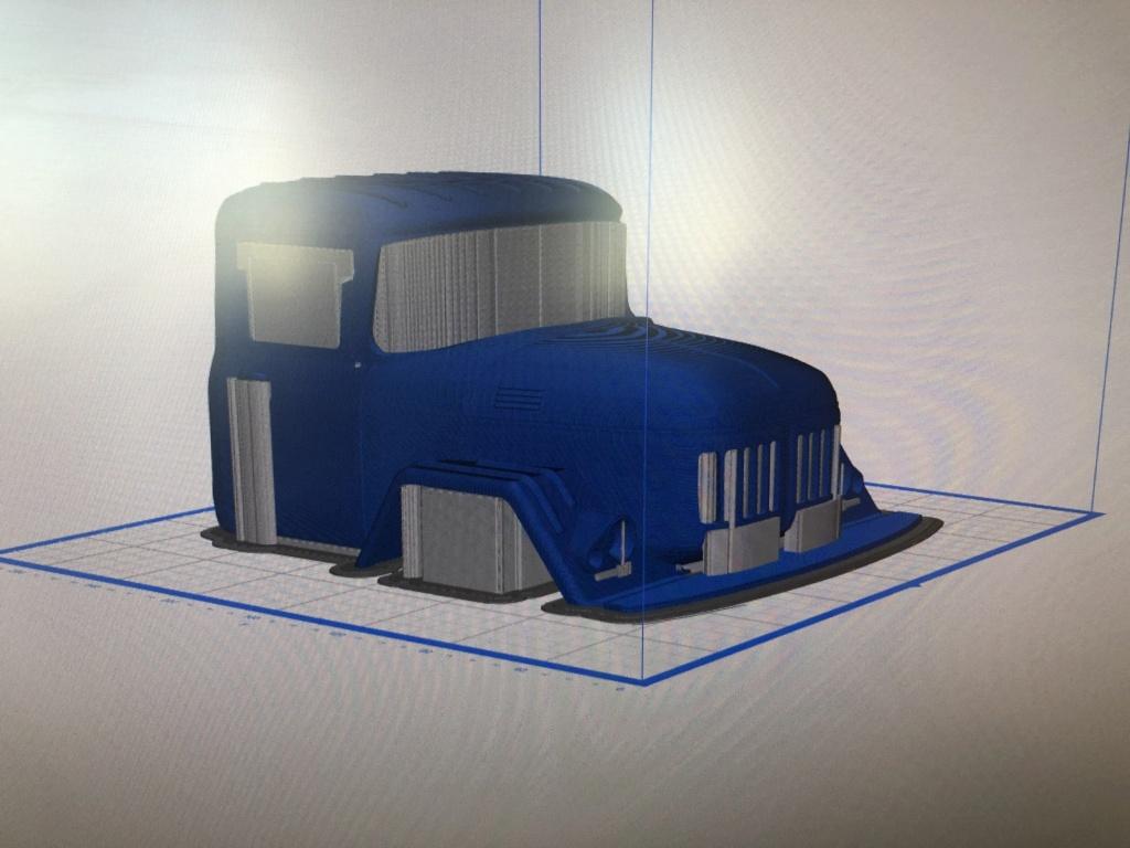 Camion Zil 131 6x6 impression 3D avec balancier totalement fait maison Img_5915