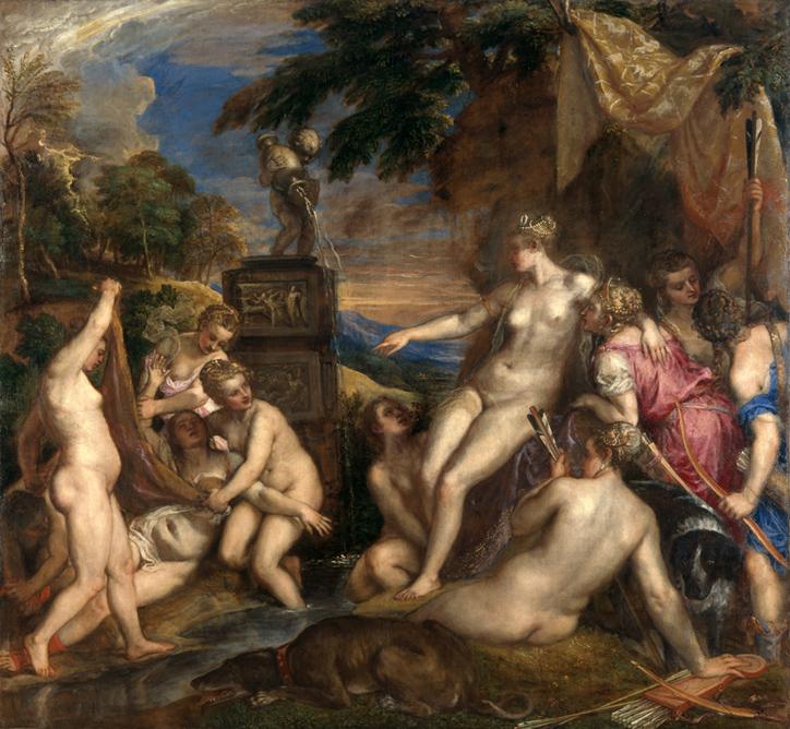 """Tiziano Vecellio, le sue 6 poesie in una sola mostra.  """"Tiziano: Love, Desire, Death."""" Diana_10"""