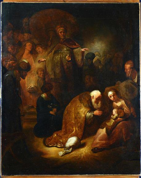 Scoperto un Rembrandt a Roma. L'opera, 'Adorazione dei Magi'. Rembra10