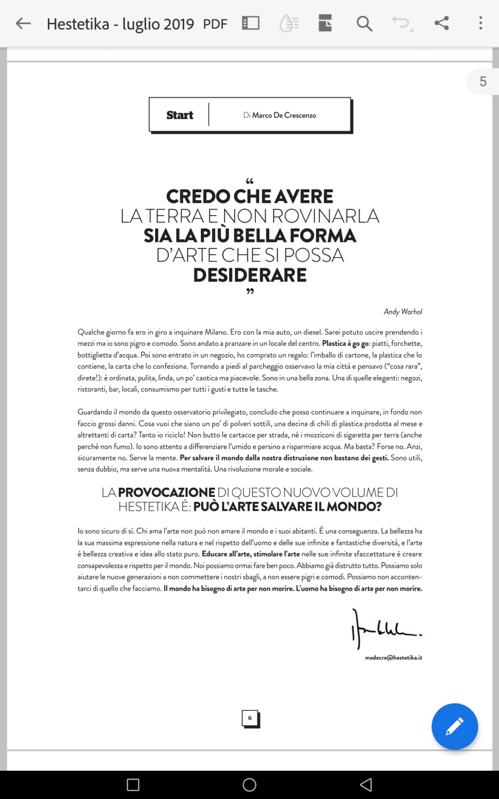 GLI EDITORIALI DELLE VARIE RIVISTE D'ARTE - Pagina 3 Screen11