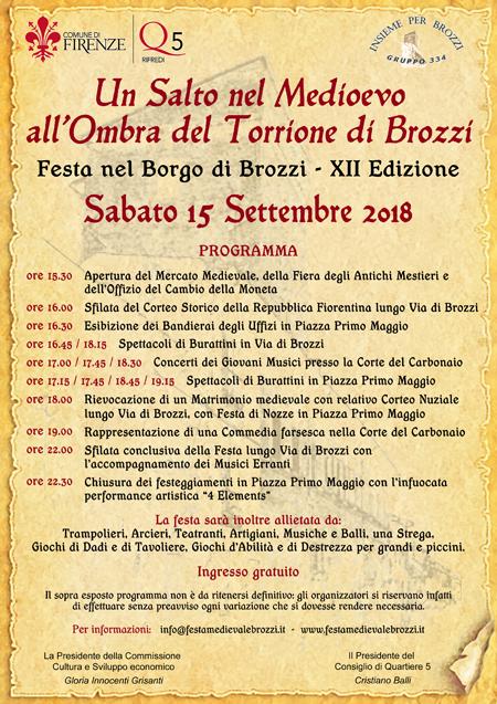 Un salto nel Medioevo all'ombra del Torrione di Brozzi - 15 settembre 2018 Locand10