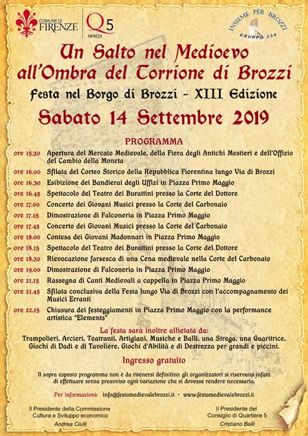 Festa Medievale di Brozzi - XIII edizione - Sabato 14 settembre 2019 Locand12