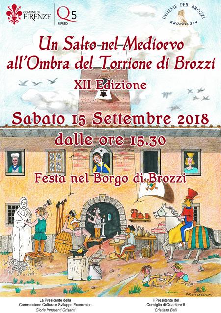 Un salto nel Medioevo all'ombra del Torrione di Brozzi - 15 settembre 2018 Manife10