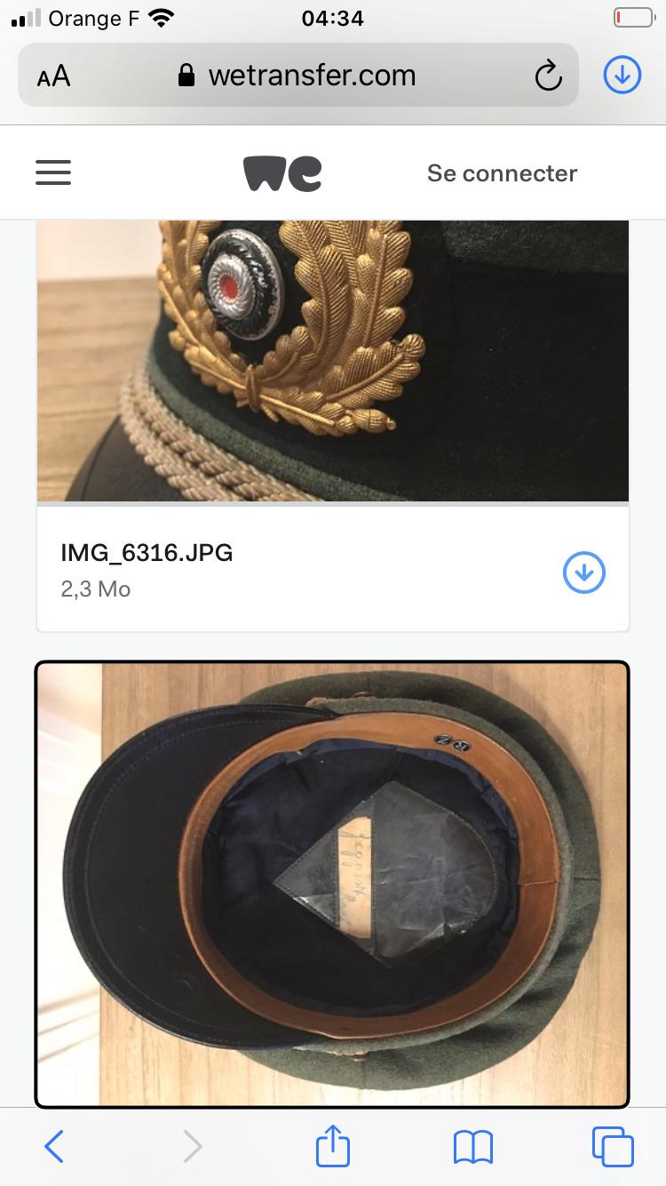 Casquette officier  artillerie côtière  9c8e7110