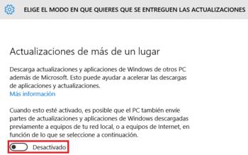 Desactivar servicios que consume  Internet en Windows 10 Se-ent10
