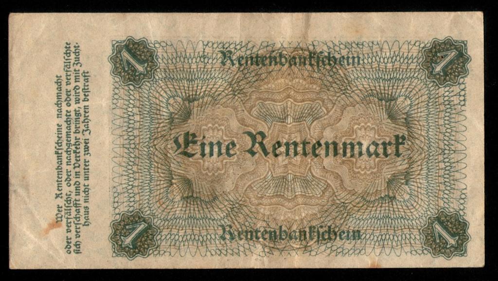 1 Rentenmark 1.923. República de Weimar, Alemania 1_rent11