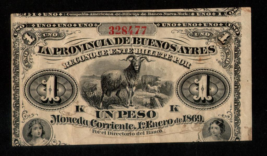 1 Peso de La Provincia de Buenos Aires 1.869. Argent10