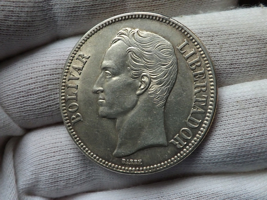 (5 Bolívares) de 1.935, Venezuela. Dscf3433