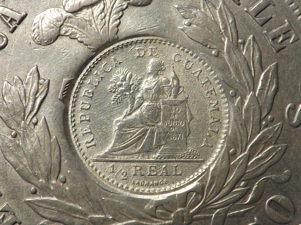 1 Peso sellado de Guatemala 1.894 sobre 1 peso chileno de 1.876 Dscf3450