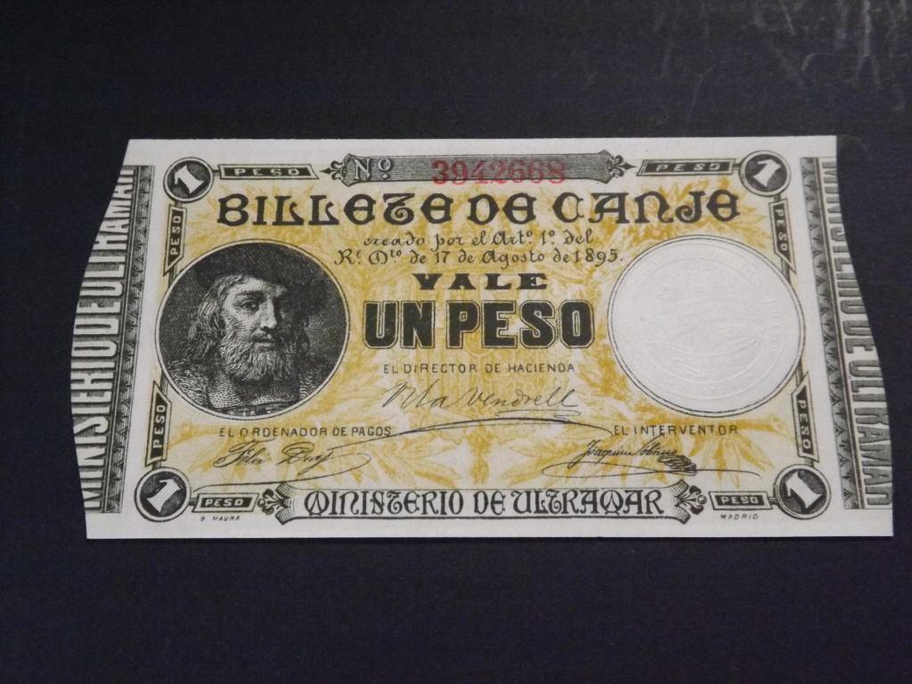 1 Peso de 1.895, billete de canje de Puerto Rico Dscf3526