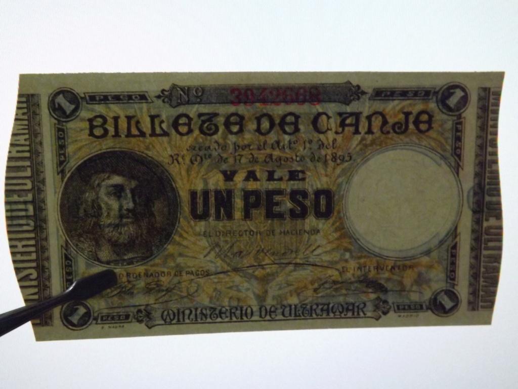 1 Peso de 1.895, billete de canje de Puerto Rico Dscf3529