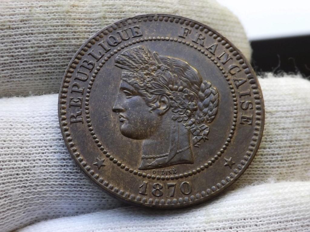 10 Centimes de 1870, Francia. La Ceres de los pobres. Dscf4627