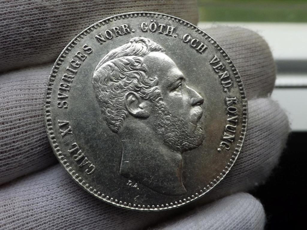 4 Riksdáler Riksmynt de 1.871, Suecia. Dscf5233