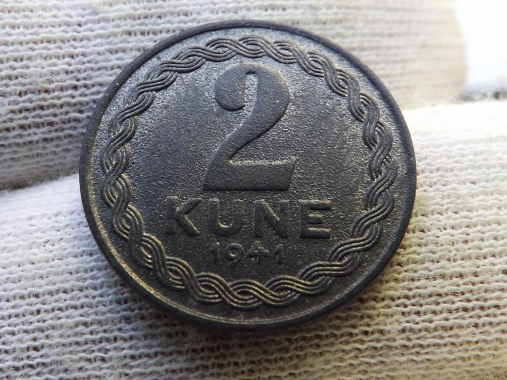 2 Kune de 1.941, Estado Independiente de Croacia. Dscf5411