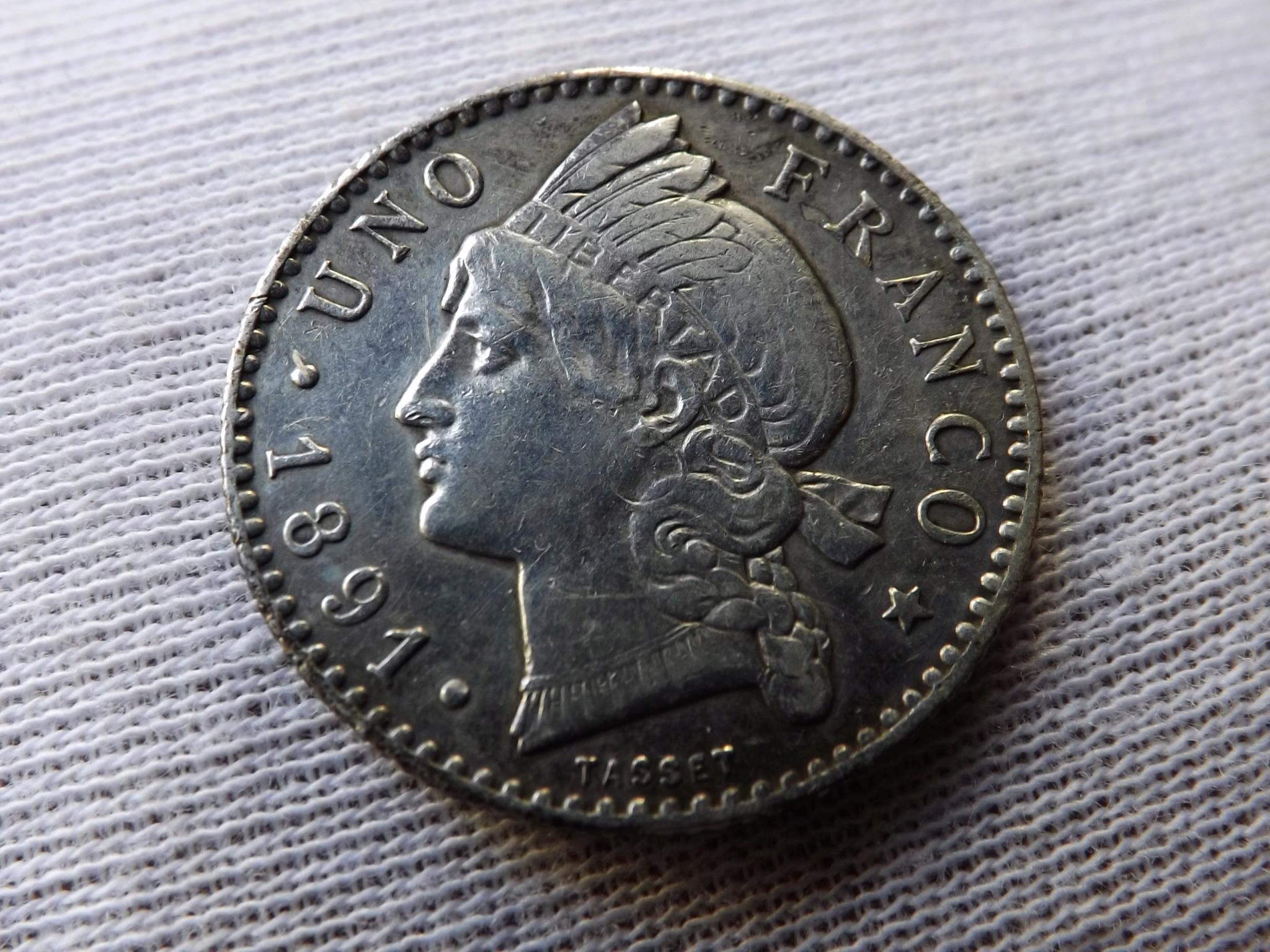 1 Franco de la República Dominicana de 1.891. Dscf6416