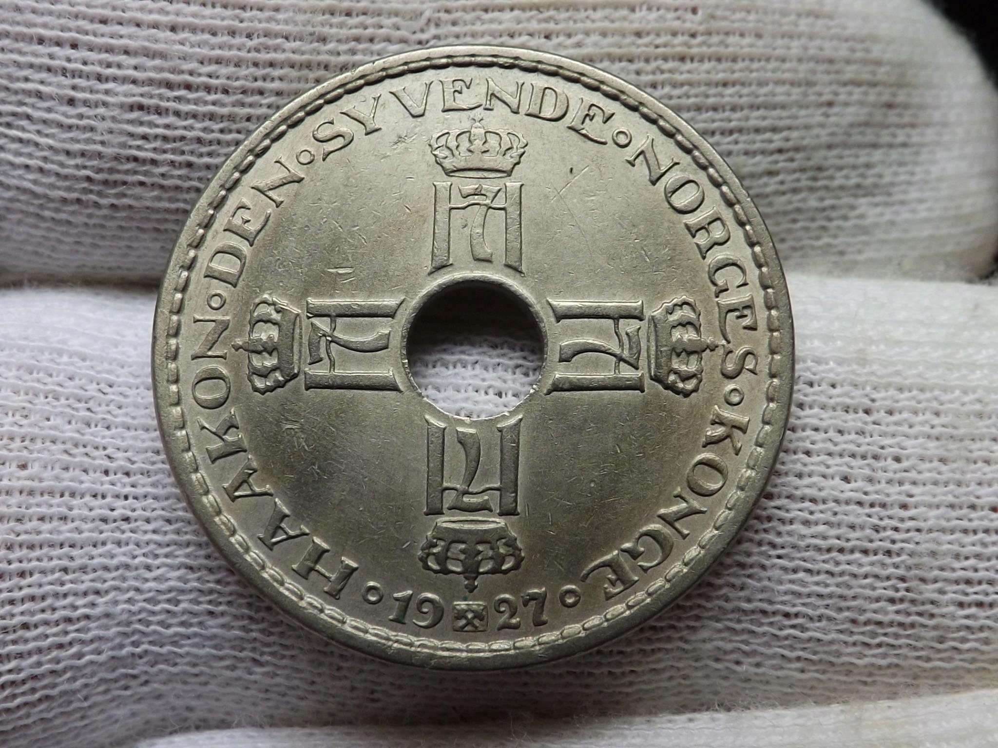 Entre Guerra y Guerra... 1 Corona de 1.927, Noruega. Dscf6424