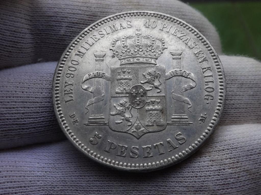 """5 Pesetas de 1.875, la """"tarjeta de presentación"""" de Alfonso XII. Dscf6523"""