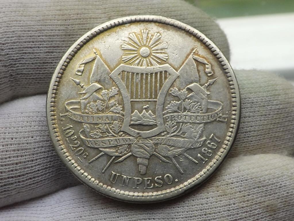 1 Peso de 1.867 (tipo Carrera), Guatemala. Dscf6644