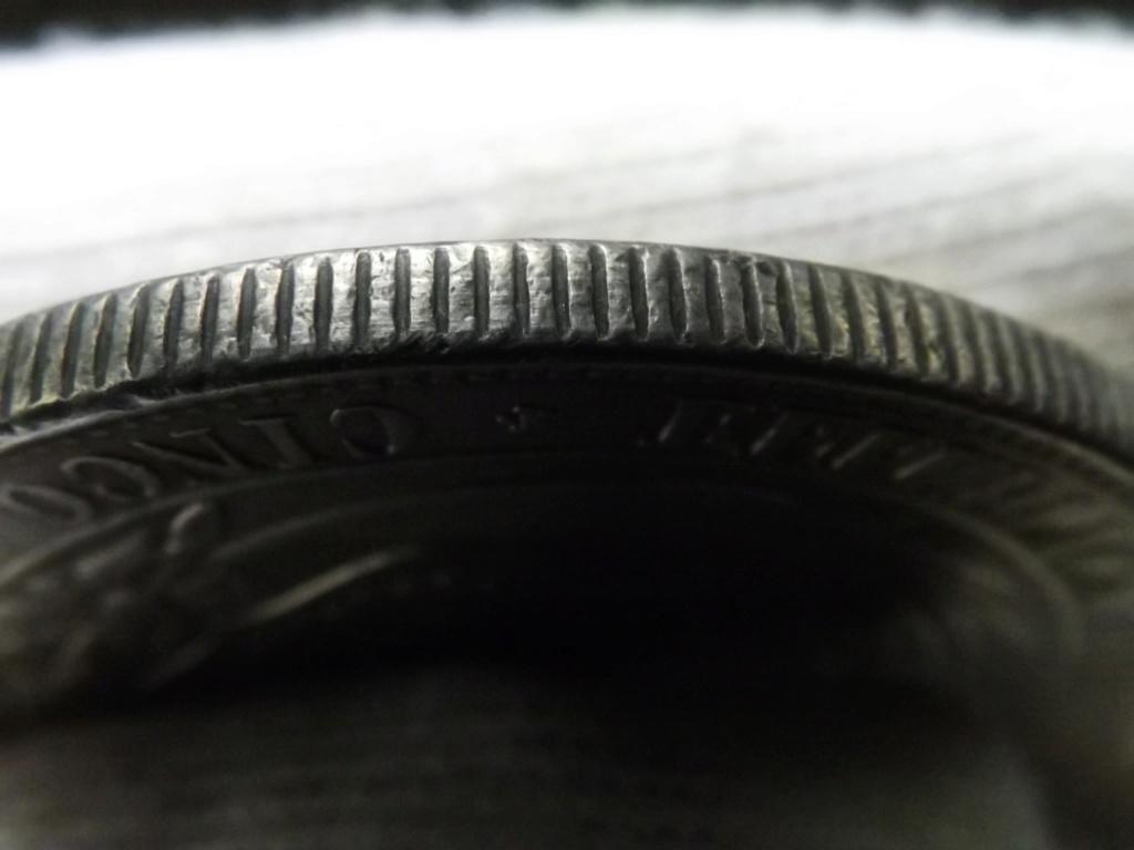 1 Peso de 1.894, Guatemala (sellado sobre 5 Pesetas de Perú 1.880). Dscf6717
