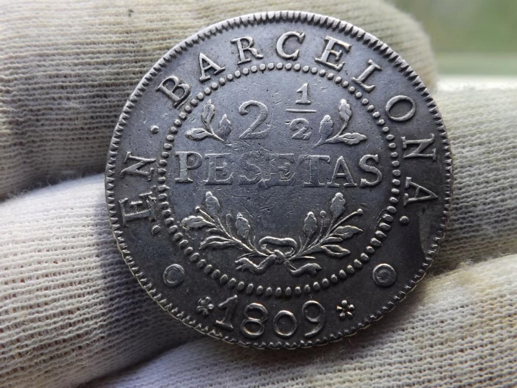 2½ Pesetas de 1.809 de la Ocupación Napoleónica de Cataluña. Dscf6922