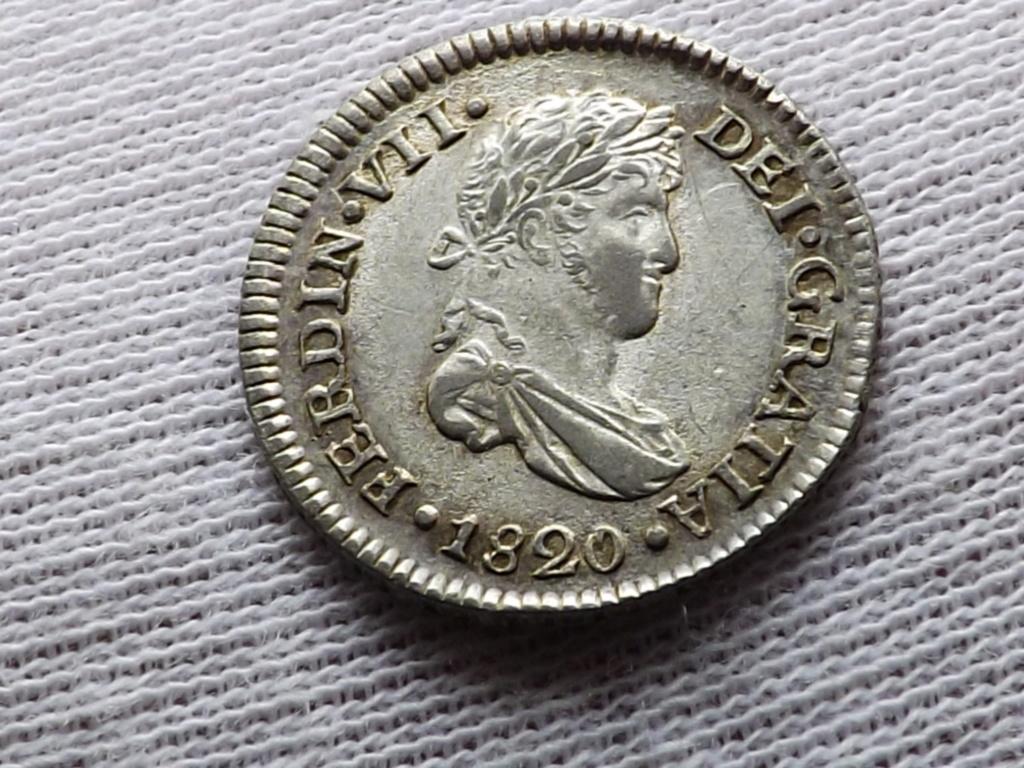 ½ Real de 1.820 de Guatemala, Fernando VII . Dscf7012