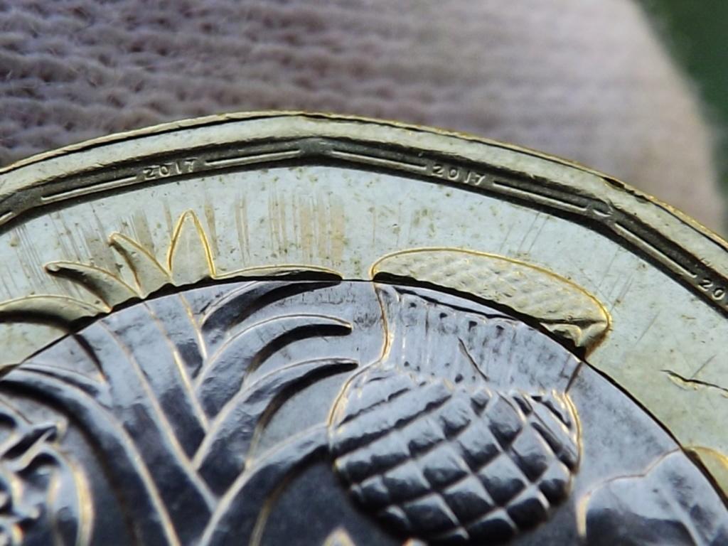 1 Libra de 2.017 de Gran Bretaña. En guerra contra la falsificación. Dscf7231