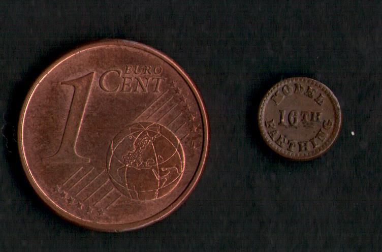 Gran Bretaña Prueba de 1/16 ( dieciseisavo ) de Farthing ( 1.848 ) Penny_10