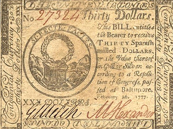 Dudas... 30 dólares pagaderos en moneda española - Baltimore, 1777 Usas0110