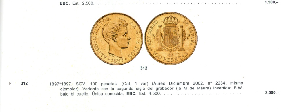 5 pesetas de Alfonso XIII, 1898. Error M de Maura al reves Waura_10
