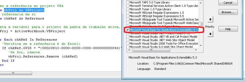 [Resolvido] Referência Excel Objec t Library 0111