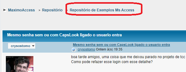 [Resolvido]Mesmo senha sem ou com CapsLook ligado o usuario entra 0115