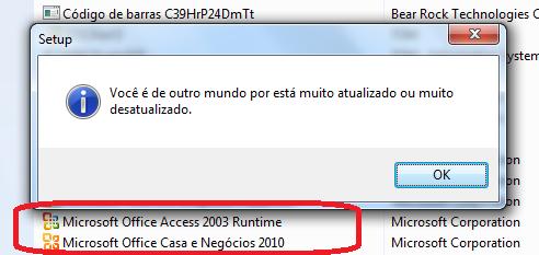 [Resolvido]Qual é a versão Access? 087