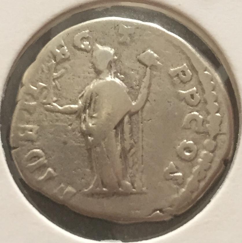 Denario de Septimio Severo. FIDEI LEG TR P COS. Fidelidad nicéfora a izq. Roma Img_e911