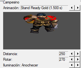 se puede crear una unidad con una animación en especifica? Animac10